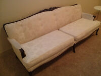 Vintage French Provincial Sofa and Chair  circa 60s