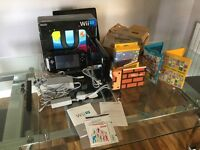 Nintendo Wii U plus games (boxed, as new condition)