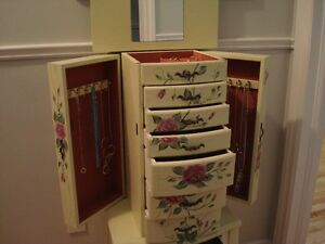 Floral Jewellery Armoire: holds lots of jewellery & momentoes!!