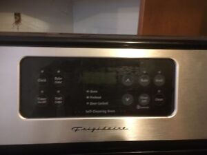 Stainless steel frigidaire stove