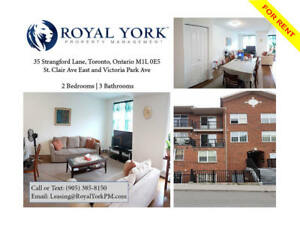 2 BED/3 BATH-UPGRADED TOWNHOME FOR RENT @ TORONTO|WARDEN STATION