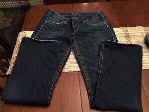 Silver Aiko Bootcut Ladies Jeans - size 32W 32L