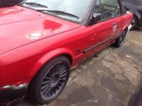 "Bmw e30 16"" alpina style alloy wheel 5mm+ Dunlop tyres set freshly painted wheels black 4x 100 e28"