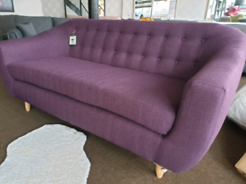 NEW Purple Scandi 3 Seater Sofa DELIVERY AVAILABLE