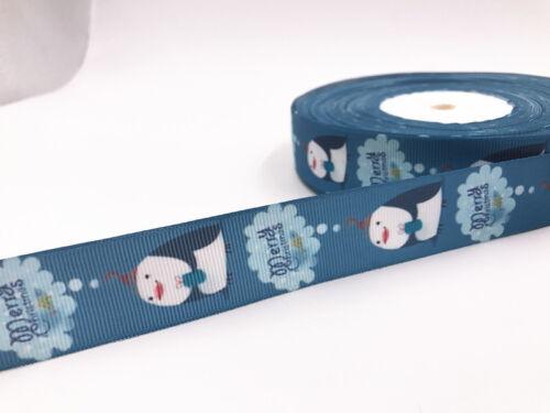 DIY 5 Yard 1/'/'25mm Princess girl Printed Grosgrain Ribbon Hair Bow Sewing Ribbon