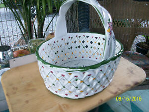 Ceramic weaved basket from Portugal