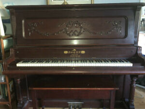 1920's W.H. Leach Upright Grand Piano