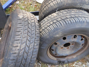 like new snow tires 215/70/15- $175