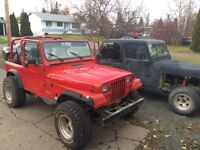 Two Jeep Yj's