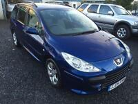 Peugeot 307 1.6HDi 110bhp estate diesel 2006 06 mot till April