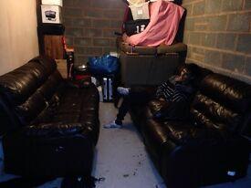 Electric recliner sofa set 3+1+1