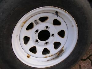 TIRE WITH RIMS ;; FOR BOAT OR UTILITY TRAILER
