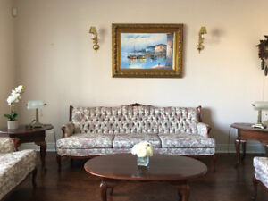 Vintage Couch Set (3 seat, love seat, single seat) For Sale