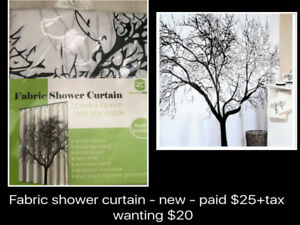 NEW & LIKE NEW - SHOWER CURTAINS