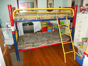 Multi-Color Bunk Beds, Bombay Solid Wood Armoire, End Tables