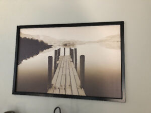 IKEA canvas print with frame