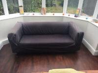 Ikea Klippan Black-Grey Two Seater Sofa, Comfortable, Good Condition