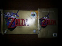 N64 Game Boxes and Instruction Booklets **NO CARTRIGES**