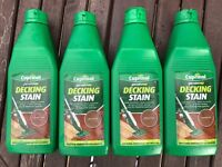 Cuprinol Decking Stain - 3x Oak And 1x Teak, All Brand New And Unopened!