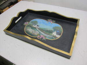 Nice Tole Painted Serving Tray