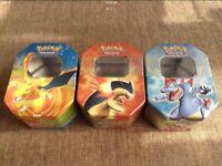 x3 Pokemon Tins (EMPTY) £5 EACH