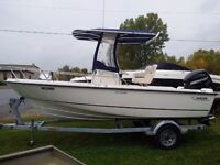 super clean 2012 Boston Whaler 190 Outrage, low hours, Verado