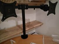 Dual PC Monitor Arm Monitor Stand Desk Mount