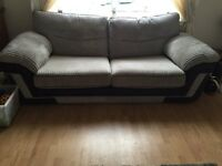 2 seater and 3 seater material sofa for sale