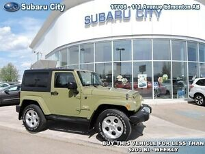 2013 Jeep Wrangler Sahara 4WD  Automatic and includes soft top