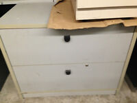2 Drawer wooden lateral filing cabinet for SALE