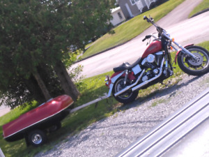 1998 dyna fxds with trailer