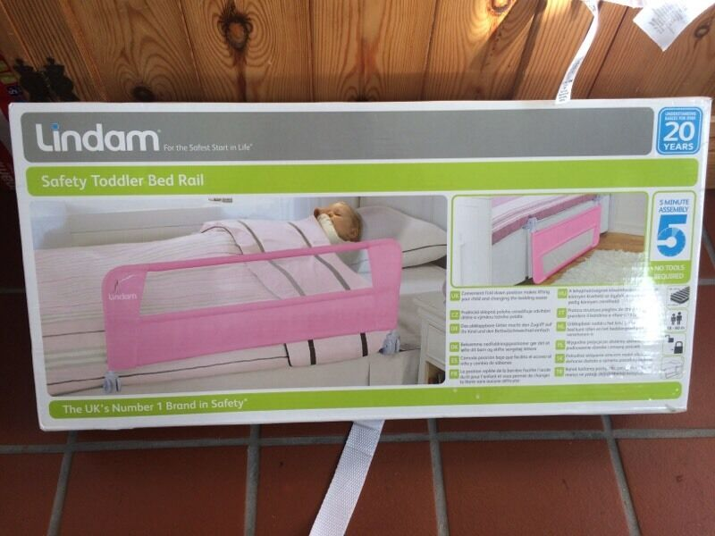 Lindam Toddler Safety Bed Guard Rail Pink Boxed With Instructions Excellent Condition GBP9 BS3