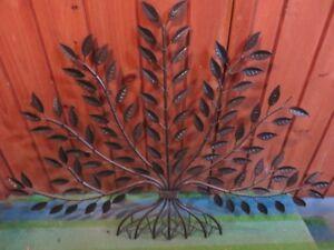 WALL DISPLAY METAL TREE OF LIFE THREE FEET WIDE.ASKING $45 OR BE