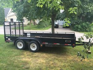 Action trailers 14' flat deck trailer 2014 dual axel