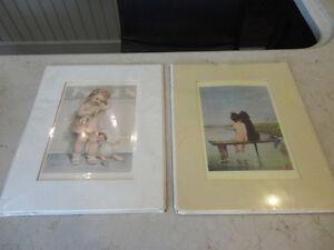 1985 Print- Love Is Blind & Bathing Beauties by Bessie P.Gutmann
