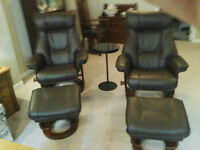 Swivel Recliner with Storage Ottoman