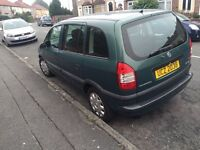 Vauxhall Zafira 1.6 i 7 seater 16v Club 5dr (a/c) 12 months MOT 899
