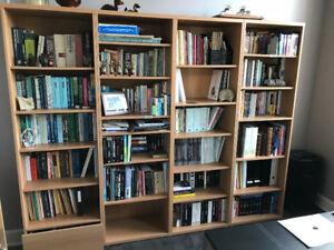 3 Bibliothèques couleur chêne $125 pour les 3