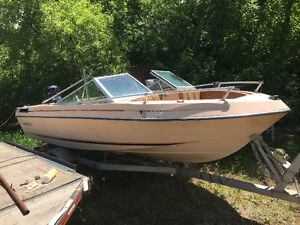 Inadver open bow with 90 Mercury motor