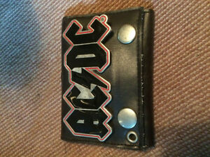 AC/DC Worn Leather Wallet