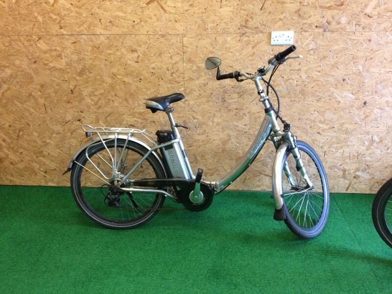 TWO ELECTRIC BIKESin Pwllheli, GwyneddGumtree - 2 Electric Bikes, ELECTROBIKE make, 26inch wheels, adult size. Variable controls, six speed gears, fully foldable, will fit in car boot. App 45 mile range, depending on terrain. Great for motorhome, or just local use.Complete with heavy duty...