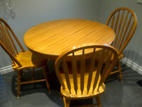 Oak Kitchen/Dining Table and Chairs