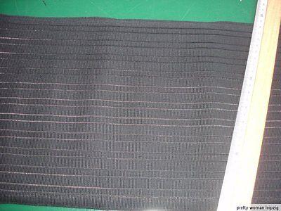 Gummiband Bandage Stützgürtel Meterware schwarz 25cm breit V57