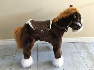Large Ride on Musical Plush Horse