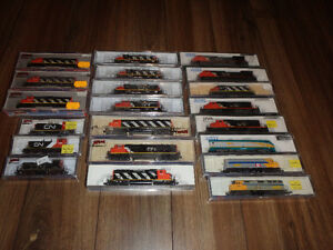 Large lot of N scale model trains