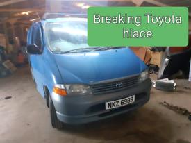 Toyota hiace breaking parts spare van