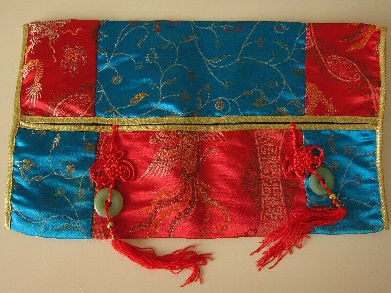 Silk Tissue Box Cover with Tassels