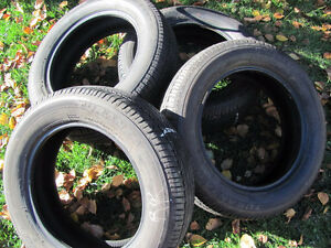 Set of Four, 175/65 R 15, M & S, Bridgestone Tires,Lots of tread Prince George British Columbia image 2