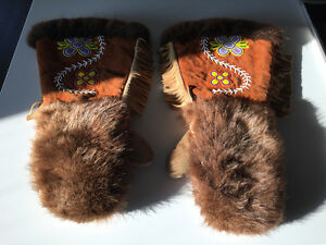 Authentic handcrafted native mitts