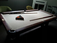 dismounting pool table